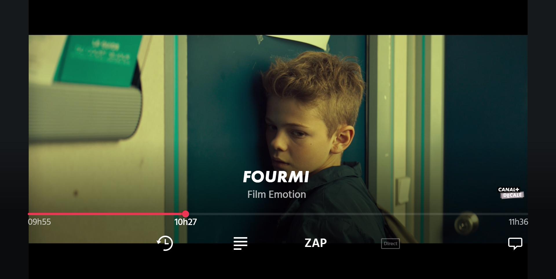 Image du lecteur vidéo de l'appli CANAL+ sur Smart TV Samsung
